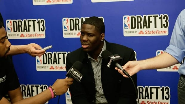 Anthony Bennett speaks to the media in New York on Wednesday. The Brampton, Ont., native is touted as a potential top-five pick in Thursday night's NBA draft.