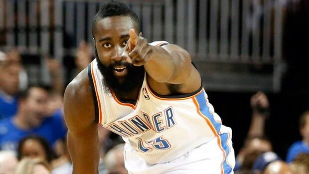 James Harden was dealt to the Houston Rockets on Saturday night.