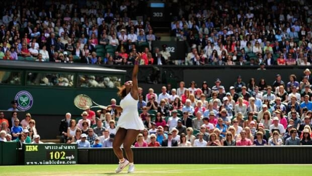 Serena Williams received $1.75 million for being crowned women's champion at Wimbledon in 2012.