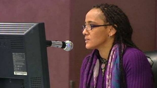 Kim Edwards testifies at the Phoenix Sinclair inquiry on Wednesday. Her testimony continues on Thursday.