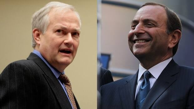Donald Fehr, left, the executive director of the NHLPA, and NHL commissioner Gary Bettman, right, will be working toward a collective bargaining agreement ahead of a Sept. 15 deadline that would lock out players.