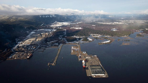 Douglas Channel, the western terminus for the proposed Northern Gateway Project, is in Kitimat, B.C.
