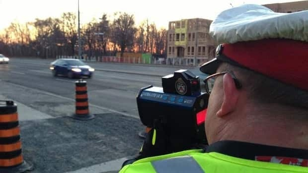 Traffic officers with 43 Division are conducting a safety initiative along a stretch of road in Scarborough that a recent police study found is prone to speeding.