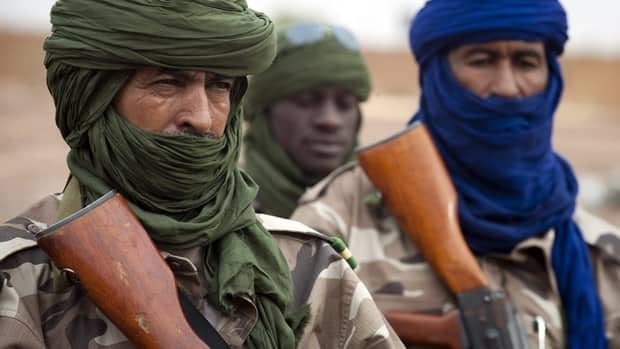 Chad soldiers, pictured here, reportedly killed an al-Qaeda chief during fighting in northern Mali, Chad's president said Friday.