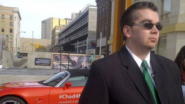 Chad Novak, who launched his campaign on Monday, says he would push for a new sports stadium if elected.