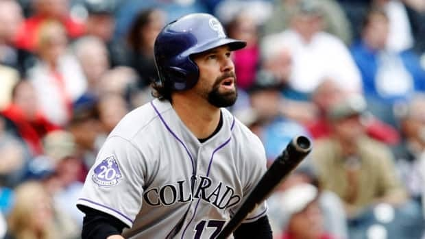 Colorado Rockies first baseman Todd Helton, seen during a game earlier this season, was arrested on Feb. 6