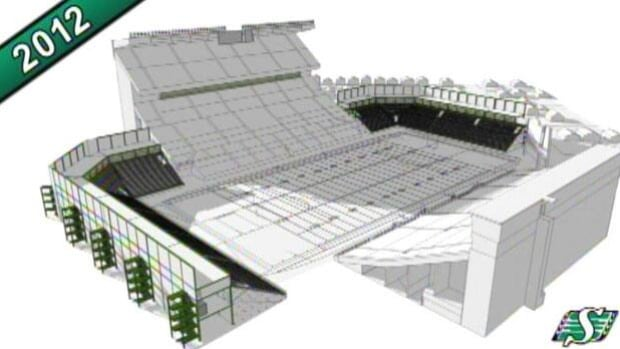 The Saskatchewan Roughriders plan to add seats in several parts of Mosaic Stadium, in several stages leading up to the Grey Cup game of 2013.