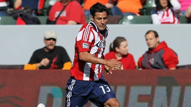 Ante Jazic of Chivas USA paces the ball during the match against the Houston Dynamo at The Home Depot Center on March 11, 2012 in Carson, California.