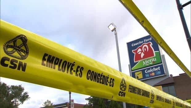 The Couche-Tard outlet at Jean-Talon and Iberville Streets was closed a year ago, after contract talks started toward the employees' first collective agreement.