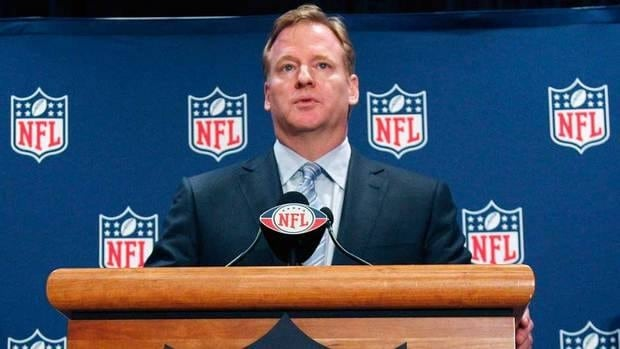 NFL commissioner Roger Goodell says he is comfortable with the idea of using replacement officials for next year if a deal can't be reached.