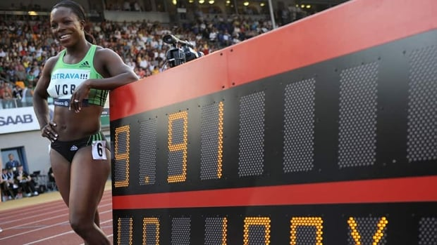 Veronica Campbell-Brown, shown in this file photo, was suspended on Tuesday by the Jamaican Athletics Administrative Association.
