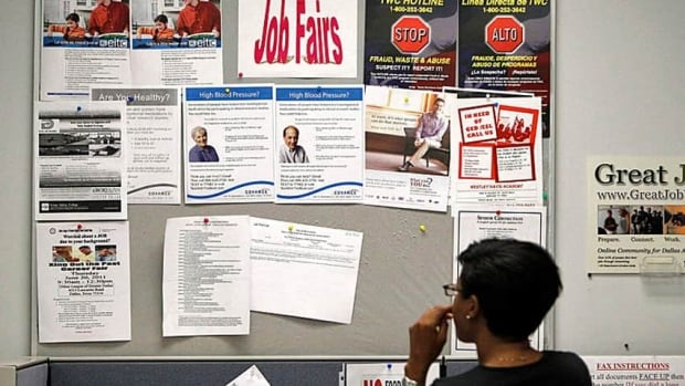 After two months of gains, Canada posted a net of no new jobs in October.