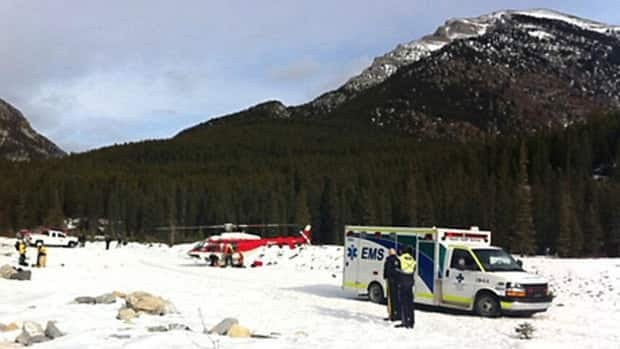 A man was rescued from a mountain near Canmore on Thursday after he crashed while paragliding.