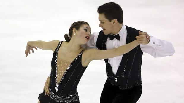 Margaret Purdy and Michael Marinaro of Canada during the pairs free skating at the world junior figure skating championships on February 28, 2013 in Milan, Italy.
