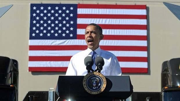 US President Barack Obama speaks about the importance of American workers developing American-made energy during a speech in Las Vegas Thursday.