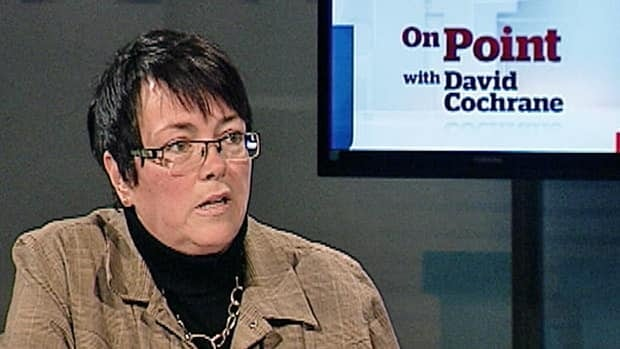 Cathy Bennett, pictured during a taping of On Point with David Cochrane earlier this year, is considering a run for the leadership of the provincial Liberal Party.