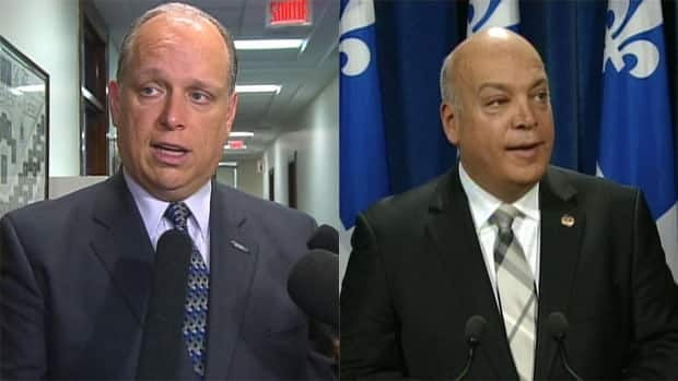 Public Security Minister Stéphane Bergeron and QLP official opposition critic for public security Robert Poëti disagree on which party is responsible for sweeping anti-corruption arrests.