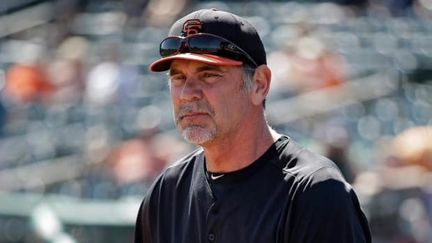 San Francisco Giants manager Bruce Bochy during a spring training game against the Cleveland Indians, Thursday, March 7, 2013, in Goodyear, Ariz.