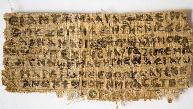 This photo released by Harvard University shows a fourth-century fragment of papyrus that divinity professor Karen L. King says is the only existing ancient text that quotes Jesus explicitly referring to having a wife.