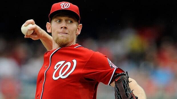 Ace pitcher Stephen Strasburg will have to sit in the dugout for the Washington Nationals' final 22 regular-season games and watch the team attempt to clinch a playoff berth.