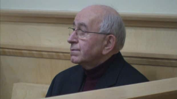 Retired priest George Smith during his sentencing hearing at Supreme Court in Corner Brook.