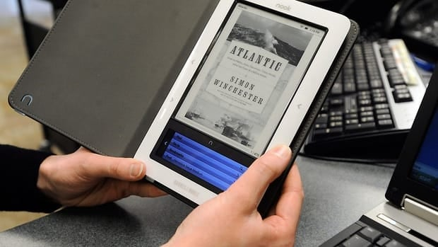 Ebook sales are surging in Canada, according to BookNet Canada, though still not as much as in the U.S., which has more ebook retailers than Canada.