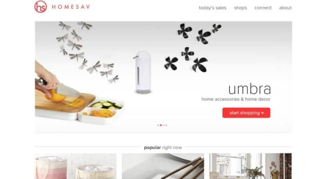 The HomeSav website is geared to busy people who need to decorate a home, without a huge investment of time.