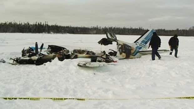 The Transportation Safety Board has released photos of a plane crash at North Spirit Lake First Nation.  Four out of five people on board were killed after Keystone Air Flight 213 crashed on a lake and burst into flames.