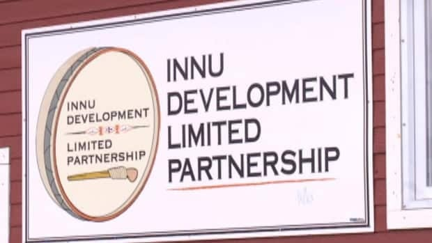The sign on the Innu Development Limited Partnership building.