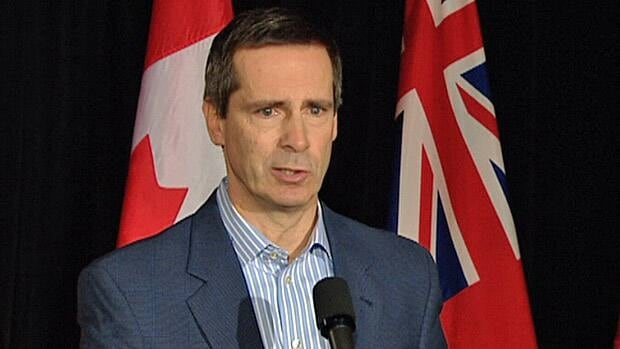 Ontario Premier Dalton McGuinty said Tuesday that the TDSB is acting responsibly in considering the possibility of selling off portions of its properties in order to generate revenue.