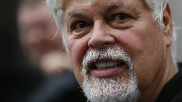 Sea Shepherd Conservation Society founder Paul Watson stepped down from the organization on Tuesday after he was named in a U.S. court injunction in December.