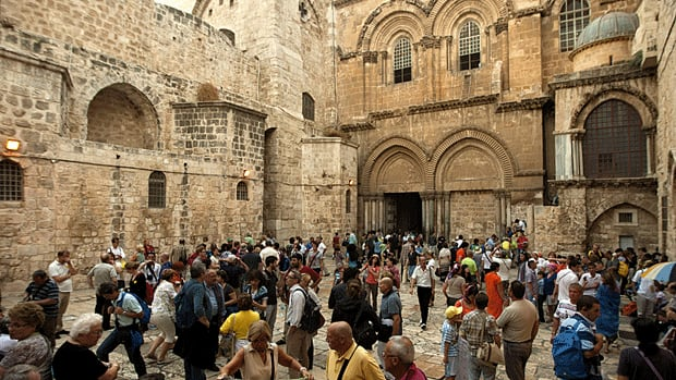 Jesus Christ is said to have been crucified at the Church of the Holy Sepulchre in Jerusalem's Old City.