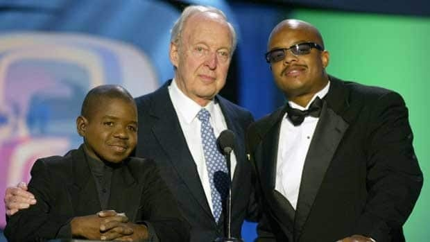 Actors Gary Coleman, Conrad Bain and Todd Bridges are reunited on March 2, 2003 in Hollywood. Bain died Monday at age 89.