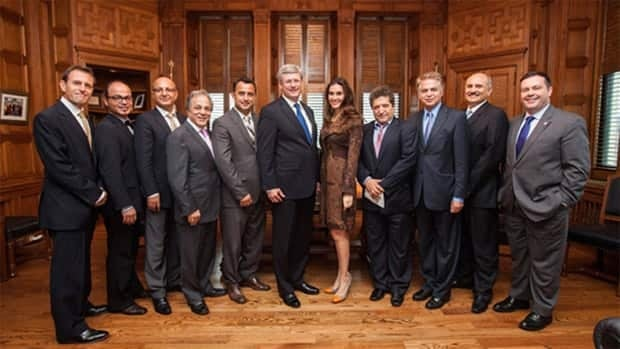 Prime Minister Stephen Harper and Immigration Minister Jason Kenney shared this photo of their meeting with prominent Iranian-Canadians on Twitter.