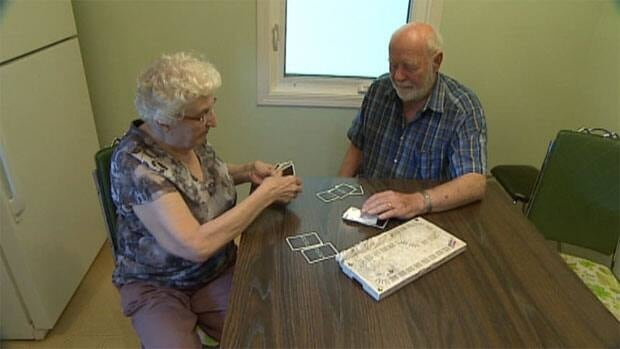 A couple from Bruno, Sask. say government regulations say their income is too high to get a spot in their home town.