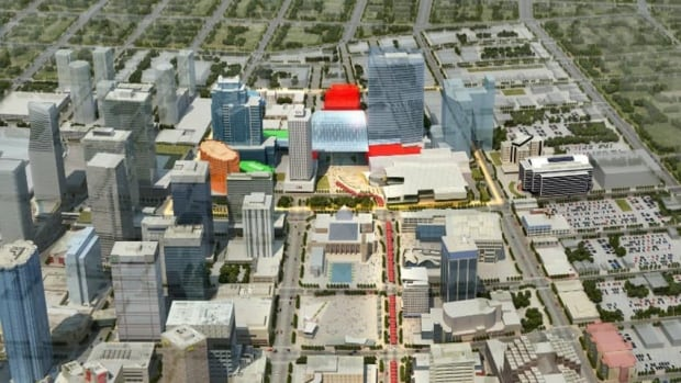 The project is slated to be constructed north of the CN Tower in downtown Edmonton.