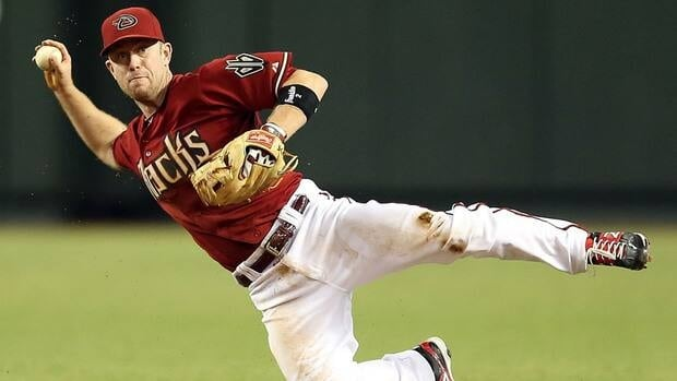 Infielder Aaron Hill of the Arizona Diamondbacks during a game against the Colorado Rockies at Chase Field on October 3, 2012 in Phoenix, Arizona.