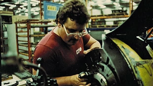 A worker in a London, Ont., brake factory in the 80s, when asbestos was still in high use in brakes.