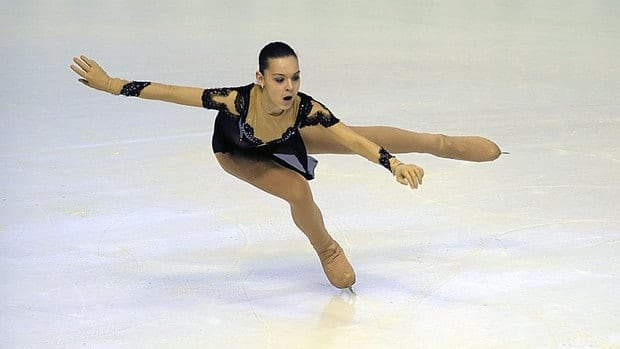 Russian skater Adelina Sotnikova performs during the women's short program Friday at the European Championship in Zagreb, Croatia.