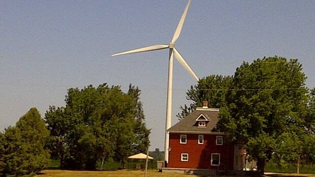 A home hundreds of metres from a turbine that's part of the Kingsbridge wind-farm project near Goderich, Ont.
