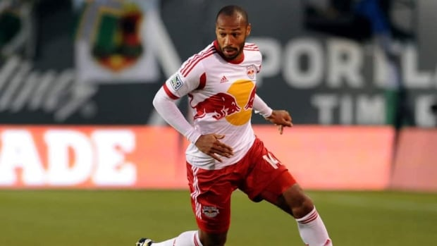 Thierry Henry of New York Red Bulls during a match against the Portland Timbers at Jeld-Wen Field on March 03, 2013 in Portland, Oregon.