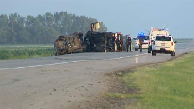 A serious crash has caused police to block off part of Highway 6.