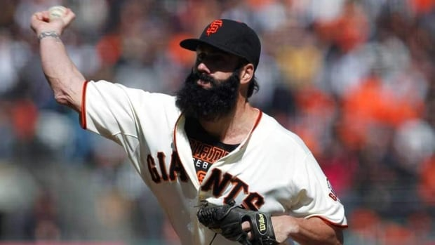 Former San Francisco Giants pitcher Brian Wilson is 20-20 with 171 saves in 315 career games.