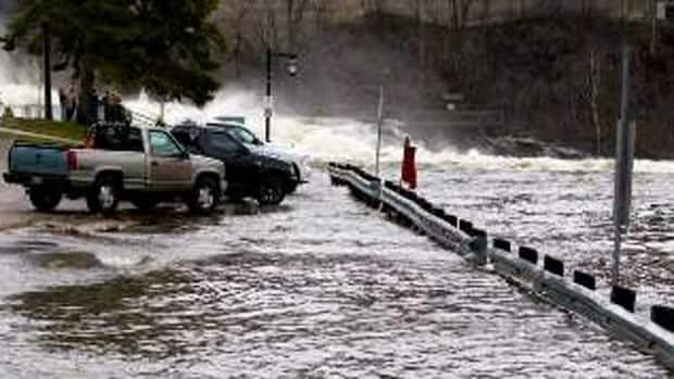 Flooding in Bracebridge, Ont. on Saturday has damaged homes and washed out roads.