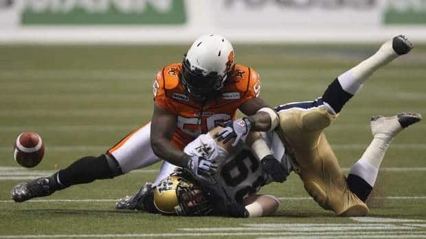 B.C. Lions linebacker Solomon Elimimian, left, was named the CFL's top rookie in 2010 before posting 98 tackles with the Lions in 2011.