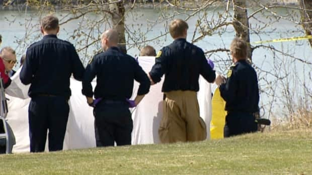 Police recovered a body from the Bow River Wednesday.