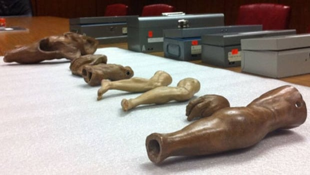 These terracotta models were once believed to have been made by Michelangelo and one of his pupils.