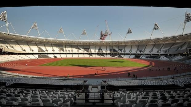 The 80,000-seat running track for the 2012 London Olympics is expected to cost $753 million US.
