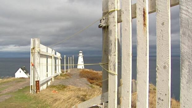 This fence at Cape Spear was damaged when Leslie lashed into eastern Newfoundland last month.