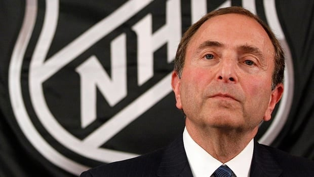 NHL commissioner Gary Bettman listens as he meets with reporters after a meeting with team owners, Thursday, Sept. 13, 2012 in New York. The current collective bargaining agreement between the league and the players expires Saturday at midnight.